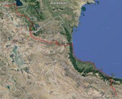 Cliquez sur l'image pour étudier le parcours sur Google Earth (dans Google Chrome)